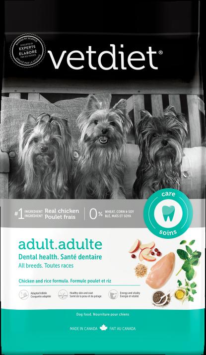 Vetdiet - Adulte – Santé dentaire. Toutes races