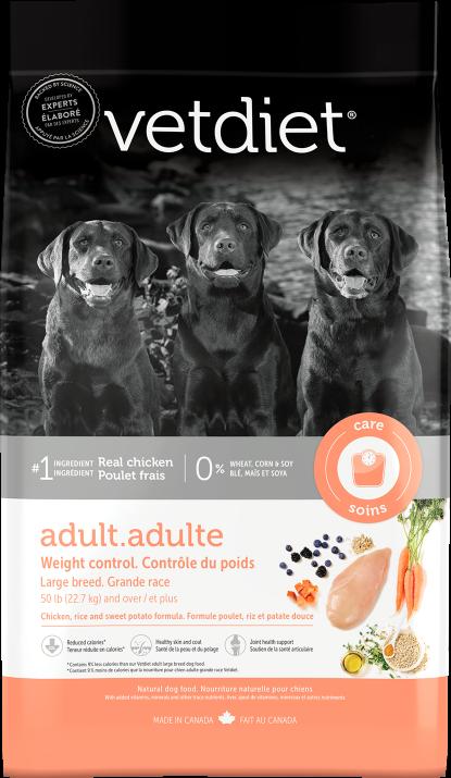 Vetdiet - Adulte – Contrôle du poids. Grande race