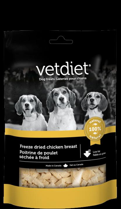 Vetdiet - Poitrine de poulet séchée à froid